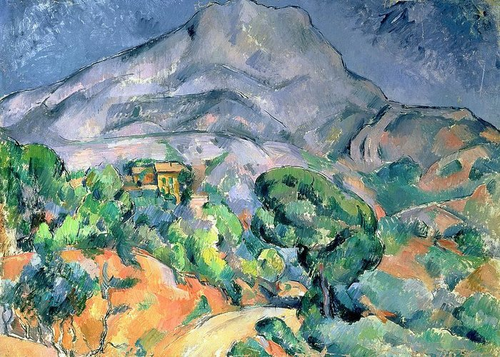 Bal49324 Greeting Card featuring the painting Mont Sainte Victoire by Paul Cezanne