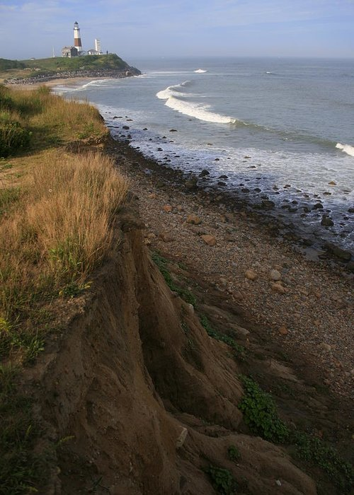 Montauk Greeting Card featuring the photograph Montauk Surf And Turf by Christopher Kirby