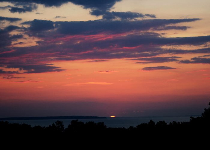 Sunset Greeting Card featuring the photograph Montauk Twilight by Christopher Kirby