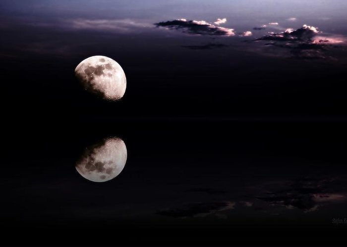 Moon Greeting Card featuring the photograph Moonlight Shadow by Steve K
