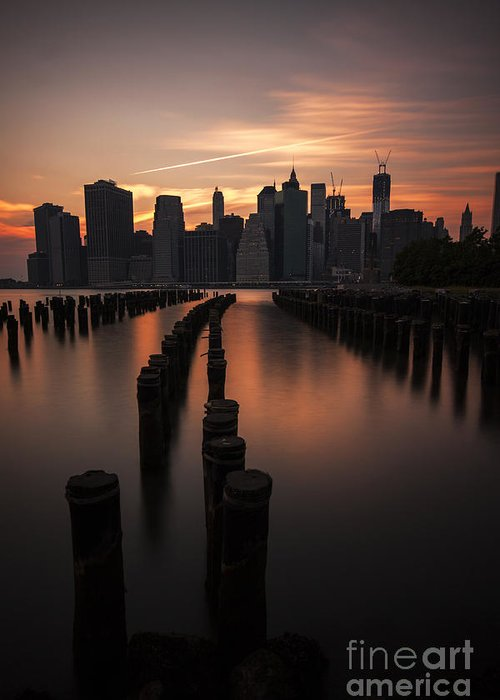 Manhattan Greeting Card featuring the photograph Mooring Eve by Andrew Paranavitana