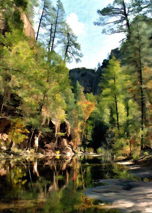Oak Creek Arizona Greeting Card featuring the photograph Morning At Oak Creek Arizona by Kurt Van Wagner