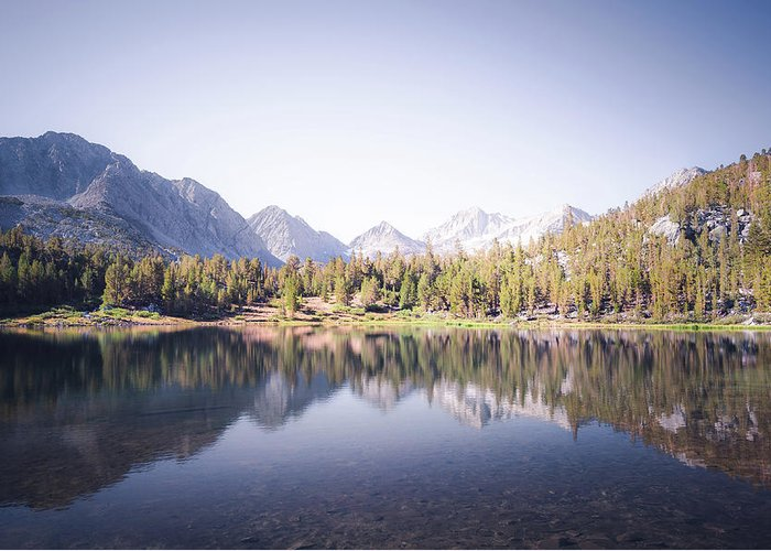 California Greeting Card featuring the photograph Morning Light At Heart Lake by Alexander Kunz