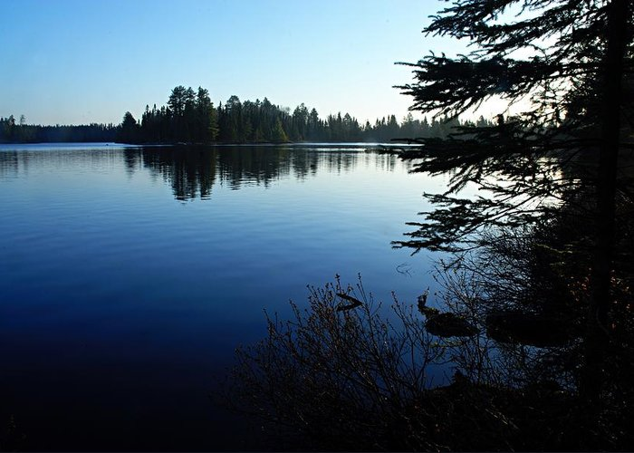 Chad Lake Greeting Card featuring the photograph Morning On Chad Lake by Larry Ricker
