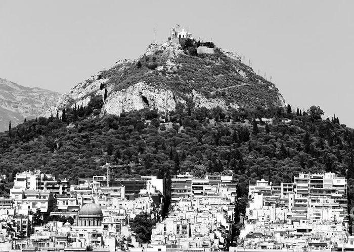 Mount Lykavittos Greeting Card featuring the photograph Mount Lykavittos by John Rizzuto