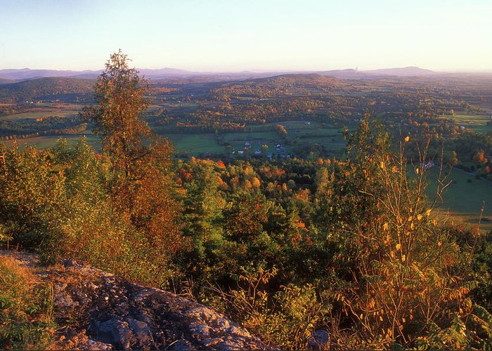 Autumn Greeting Card featuring the photograph Mount Philo Foliage View by John Burk