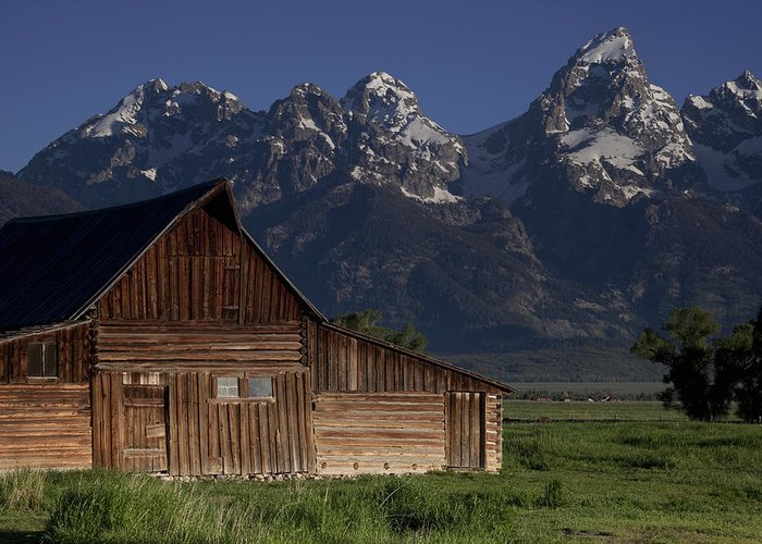 Teton Greeting Card featuring the photograph Mountain Barn by Andrew Soundarajan
