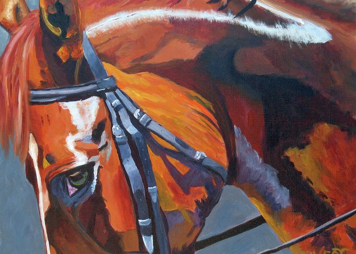 Horse Greeting Card featuring the painting Mr. Big Stuff by Anne West
