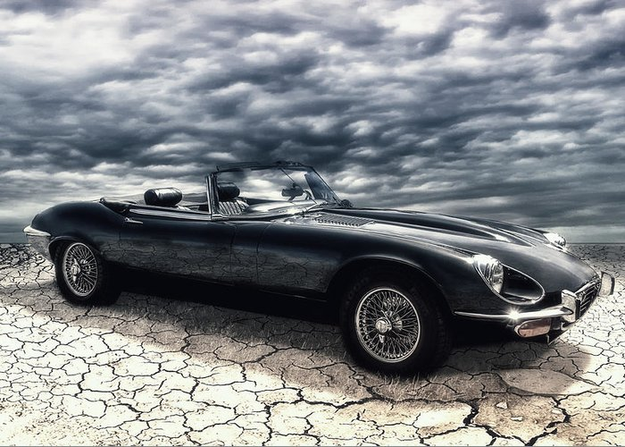 Car Greeting Card featuring the photograph my friend the Jag by Joachim G Pinkawa