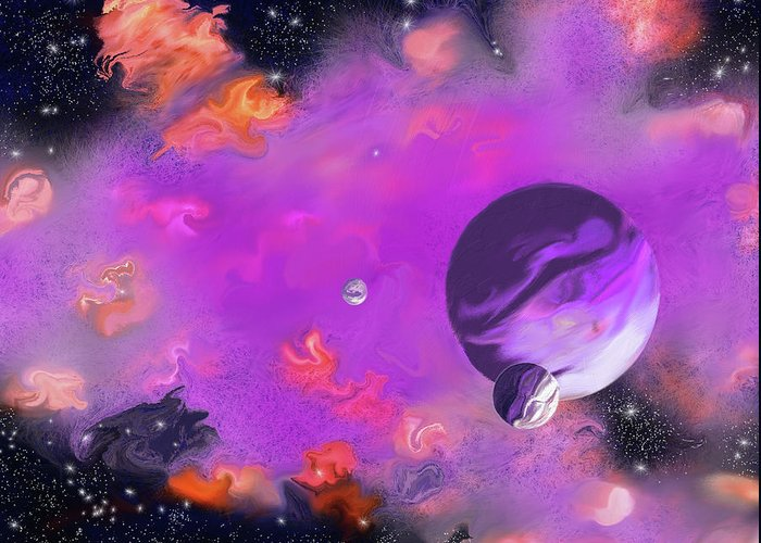 My Space Greeting Card featuring the painting My Space by Methune Hively