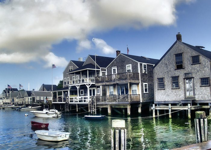Nantucket Greeting Card featuring the photograph Nantucket Harbor In Summer by Tammy Wetzel