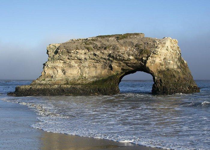 Natural Greeting Card featuring the photograph Natural Bridges State Park - Santa Cruz - California by Brendan Reals