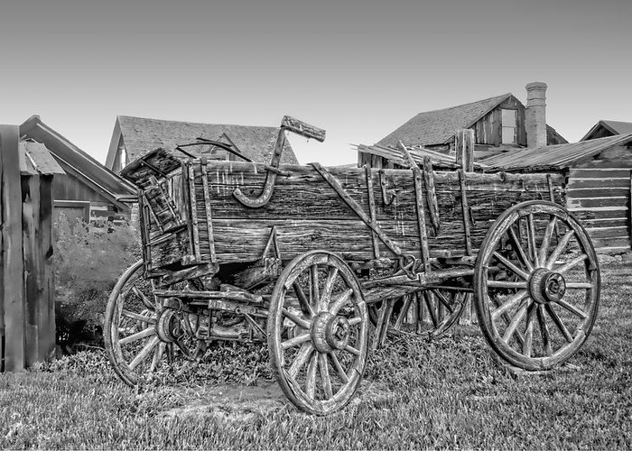 Wagon Greeting Card featuring the photograph Nevada City Montana Freight Wagon by Daniel Hagerman