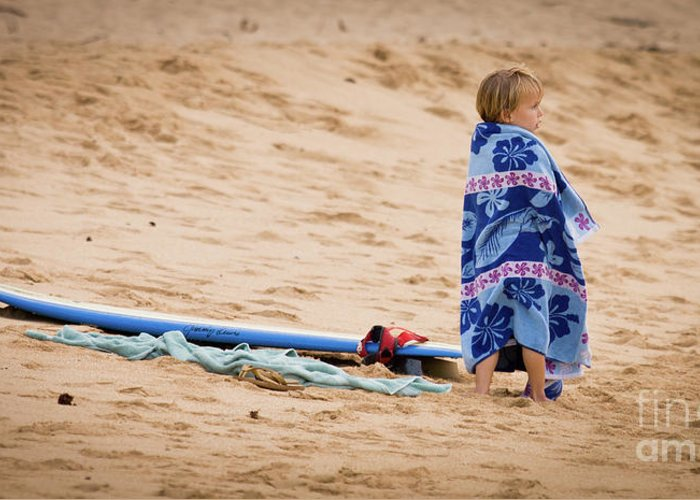 Oahu Greeting Card featuring the photograph Never Too Young To Surf by Denis Dore