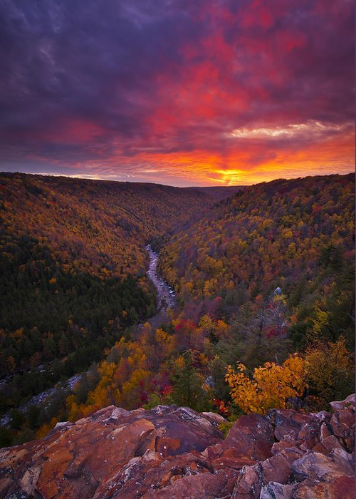 West Virginia Greeting Card featuring the photograph Neverending Autumn by Joseph Rossbach