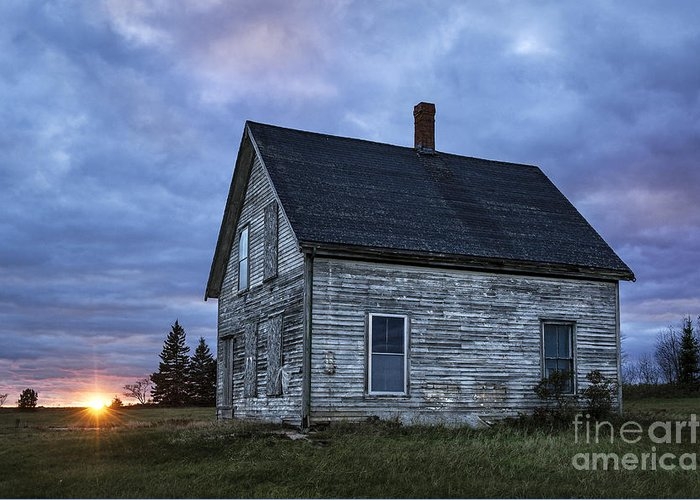 Abandoned Greeting Card featuring the photograph New Day Old House by John Greim
