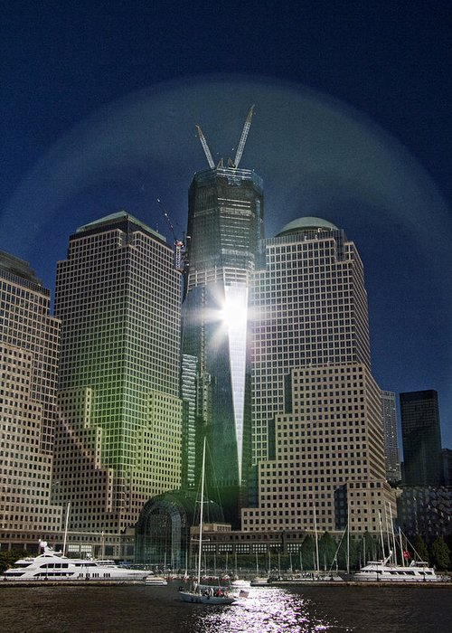 New Greeting Card featuring the photograph New World Trade Center by David Smith