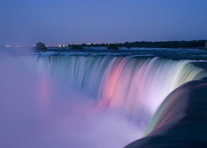 3scape Photos Greeting Card featuring the photograph Niagara Falls At Dusk by Adam Romanowicz