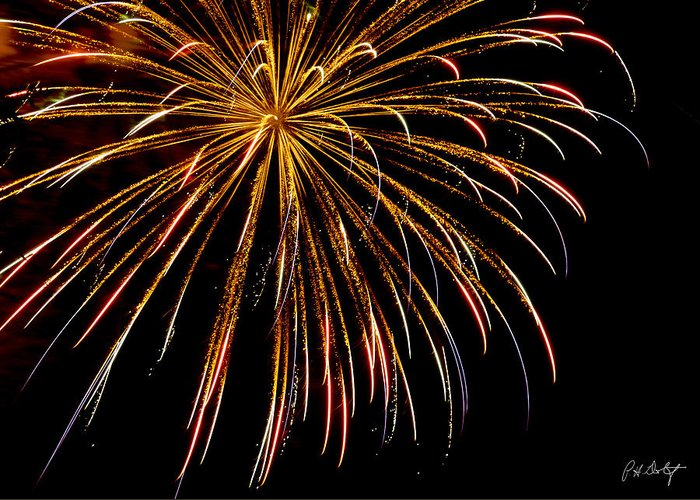 July 4th Greeting Card featuring the photograph Night Colors by Phill Doherty