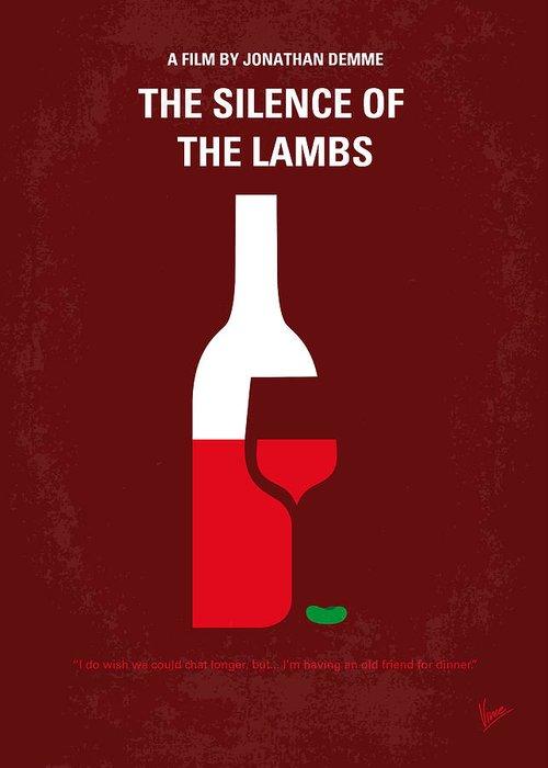 Silence Greeting Card featuring the digital art No078 My Silence Of The Lamb Minimal Movie Poster by Chungkong Art