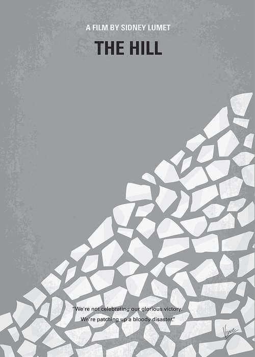 Hill Greeting Card featuring the digital art No091 My The Hill Minimal Movie Poster by Chungkong Art