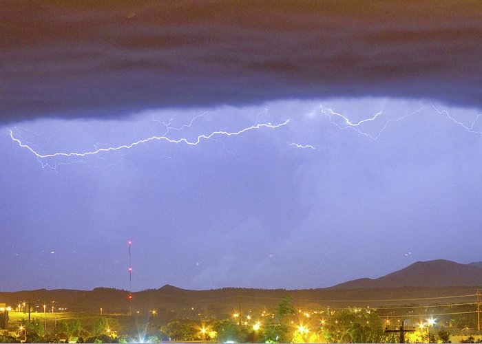 287 Greeting Card featuring the photograph Northern Colorado Rocky Mountain Front Range Lightning Storm by James BO Insogna