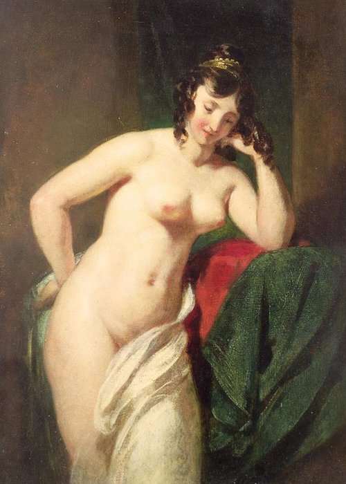 Nude Greeting Card featuring the painting Nude by William Etty