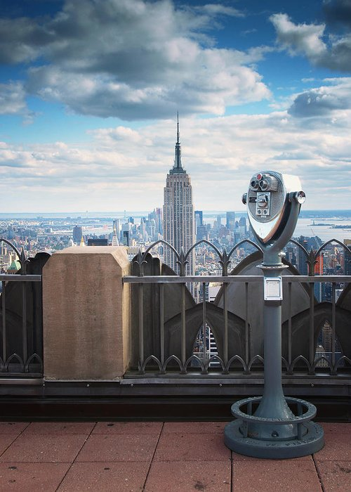 Ny Greeting Card featuring the photograph Nyc Viewpoint by Nina Papiorek