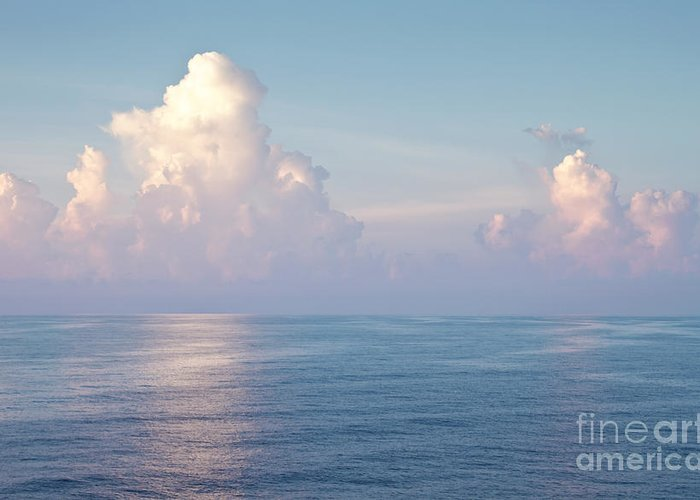 Ocean Greeting Card featuring the photograph Ocean And Sky by Blink Images