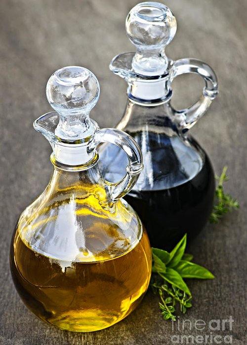 Oil Greeting Card featuring the photograph Oil And Vinegar by Elena Elisseeva
