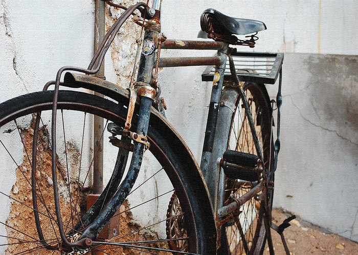 Old Bike Ii Greeting Card featuring the photograph Old Bike II by Robert Meanor