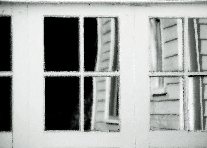 Old Garage Door Greeting Card featuring the photograph Old Garage Door by Bonnie Bruno