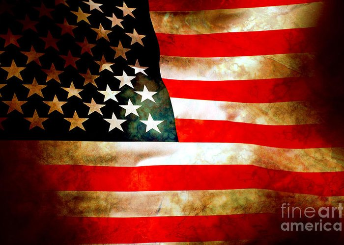 Flag Greeting Card featuring the photograph Old Glory Patriot Flag by Phill Petrovic
