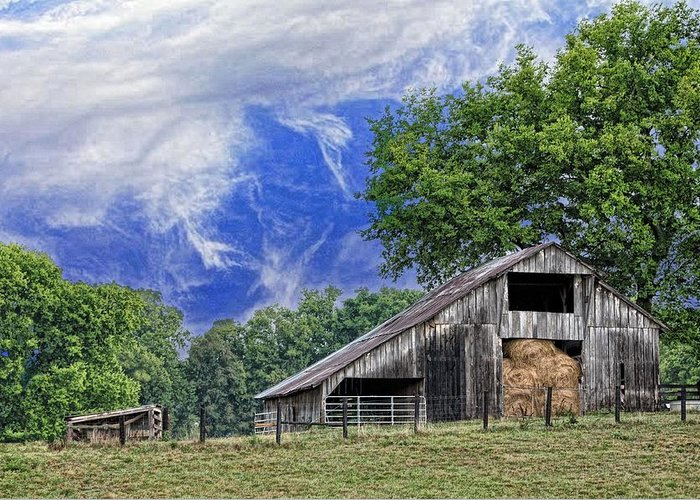 Landscapes Greeting Card featuring the photograph Old Hay Barn by Jan Amiss Photography