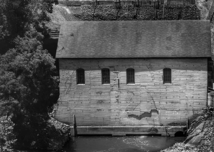 Card featuring the photograph old mill by the roanoke by rrrose pix