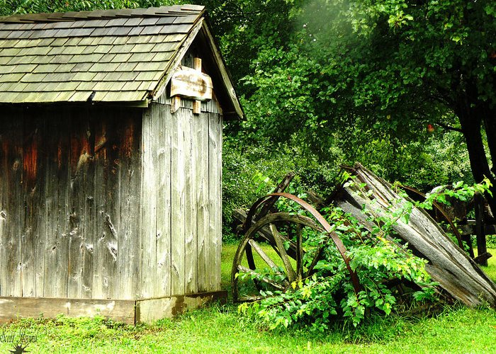 Hovind Greeting Card featuring the photograph Old Wood Shed by Scott Hovind