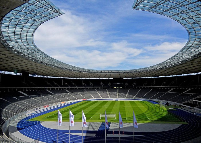 Germany Greeting Card featuring the photograph Olympic Stadium Berlin by Juergen Weiss