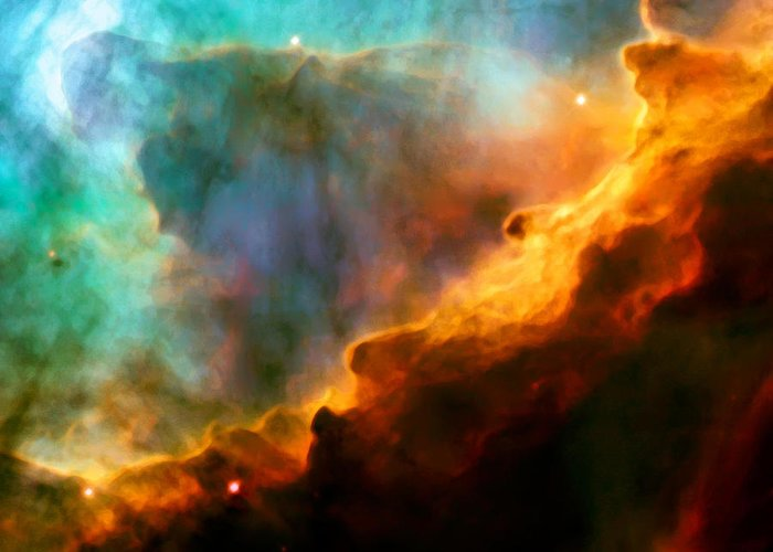 Nebula Greeting Card featuring the photograph Omega Swan Nebula 3 by Jennifer Rondinelli Reilly - Fine Art Photography