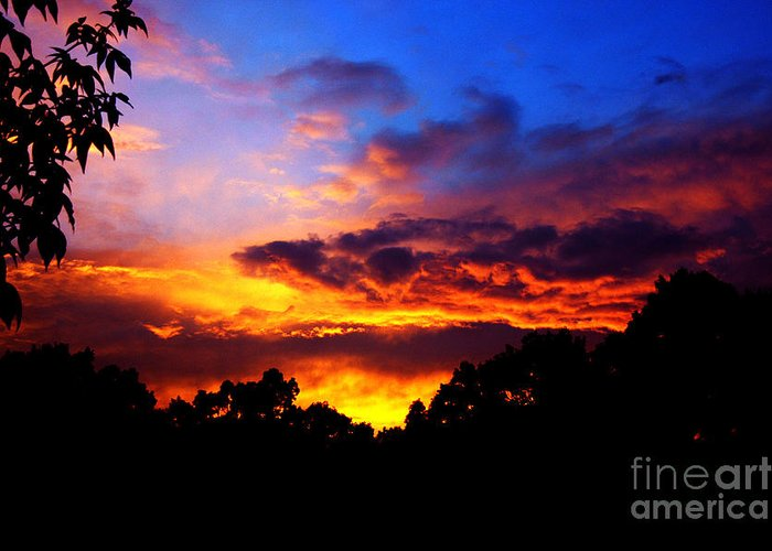 Clay Greeting Card featuring the photograph Ominous Sunset by Clayton Bruster