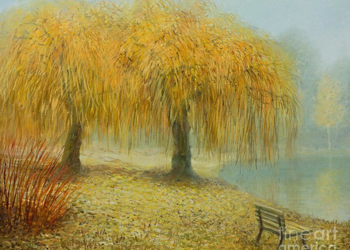Art Greeting Card featuring the painting Only The Two Of Us by Kiril Stanchev