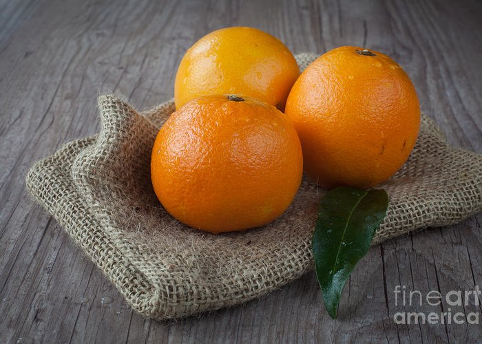 Tangerine Greeting Card featuring the photograph Orange Fruit by Sabino Parente