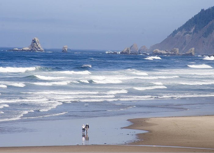 Ocean Greeting Card featuring the photograph Oregon Coast by Elvira Butler