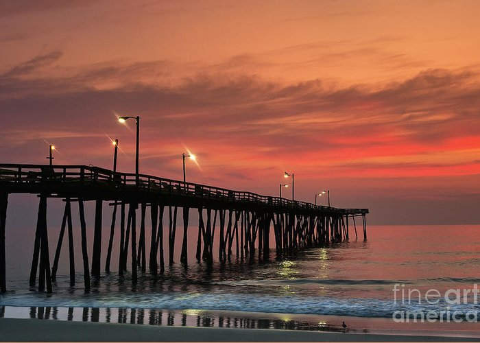 Atlantic Greeting Card featuring the photograph Outer Banks Sunrise by John Greim
