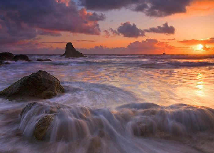 Sunset Greeting Card featuring the photograph Overcome by Mike Dawson