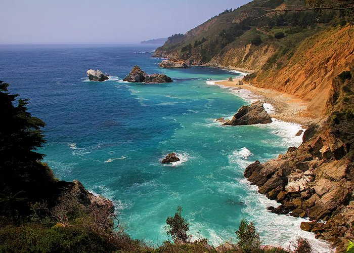 Big Sur Greeting Card featuring the photograph Pacific Coast Blues by Donna Kennedy