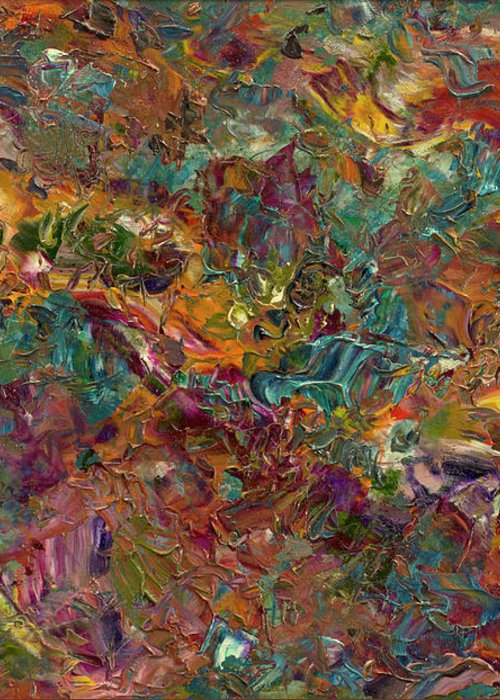 Abstract Greeting Card featuring the painting Paint Number 16 by James W Johnson