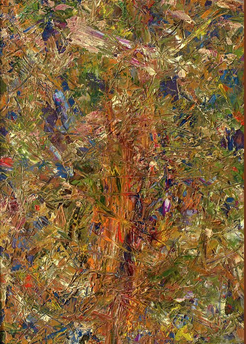 Abstract Greeting Card featuring the painting Paint Number 25 by James W Johnson