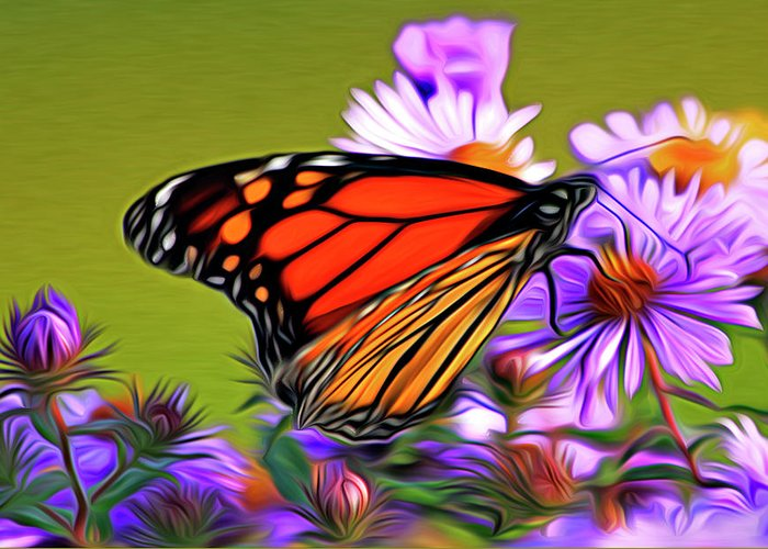 Butterfly Greeting Card featuring the photograph Painted Butterfly by David Kehrli
