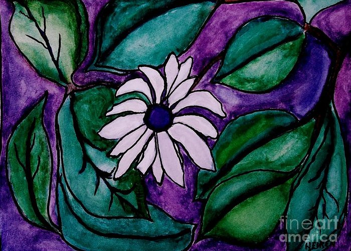 Painting Greeting Card featuring the digital art Paradise Flower by Marsha Heiken