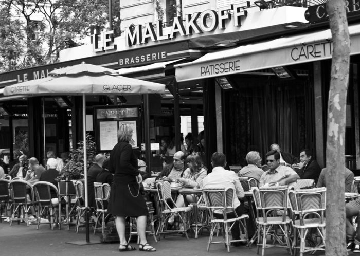 Bar Greeting Card featuring the photograph Paris Street Cafe - Le Malakoff by Georgia Fowler
